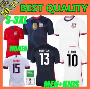 nuove 2020 donne uomini Coppa America di calcio Jersey LLOYD RIPINOE KRIEGER Stati Uniti 4 stelle 19 20 21 PULISIC USA Football Shirt