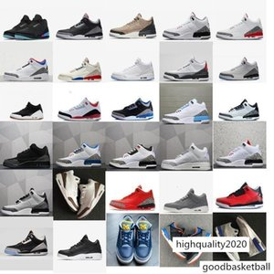Cheap mens Jumpman 3 basketball shoes 3s Michigan UNC Blue Georgetown OG Black Cement White aj3 Tinker NRG j3 retro sneakers boots with box