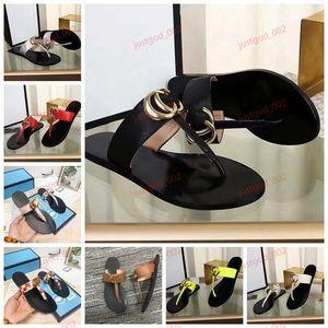 Gucci flip flops xshfbcl 2020 Black Beach en cuir souple Paris Thong Sandales hommes et femmes Multicolor Casual Flat Mode Chaussons