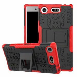 Para Sony XZ1 Compact Caso robusto Combo híbrido Armadura New Bracket Impacto Estojo Capa protetora capa para Sony Xperia XZ1 Compact