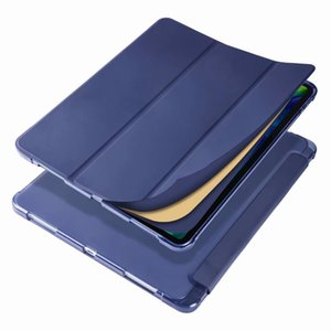 For IPad 10.2 2019 10.5 Air1 2 New 9.7 Kickstand Functions With Pencil Slot Shock Resistant Thin And Light Tablet Case Transparent Back