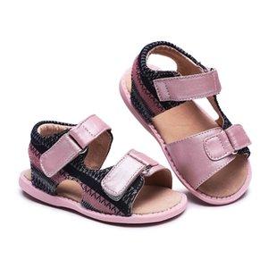 Tipsietoes 샌들 어린이 신발 어린이 소녀 신발 통기성 신발 여름 편안한 가죽 Y190525