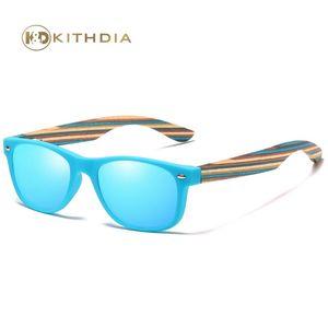 Kithdia Flexible Kinder-Sonnenbrille polarisierte Jungen-Mädchen-Baby Holz Sonnenbrillen UV400 Kinder Brillen Brillen