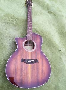 공장 사용자 지정 2019 새로운 갈색 왼손잡이 K24ce K24 어쿠스틱 일렉트릭 기타 사용자 지정 사용자 지정