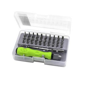 32 En 1 de precisión intercambiable magnética Juegos de destornilladores mini destornillador Bits Herramientas de reparación del kit del 7389C