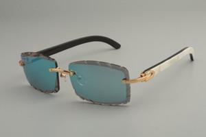 Vendita diretta di nuovi occhiali da sole di corno misti naturali 8100915personalized occhiali da sole personalizzati, colore lenti incise, dimensioni: gli occhiali da sole 56-18-140mm