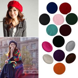 2019 Yeni Bayan Kış Şapka Bere Kadın Yün Pamuk Blend Cap 16 Renk Yeni Kadın Şapkalar Siyah Beyaz Gri Pembe, solcular De Mujer Caps