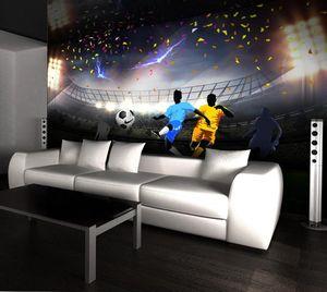 Custom Photo Wallpaper Mural 3D HD Green Football Field Wall Decorative Living room sofa wallpapers home decor