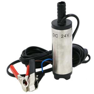 Pompe Mini électrique submersible portable pour le pompage de l'eau Gasoil de carburant Pompe de transfert en acier inoxydable Shell 12L / min 12V DC 24V
