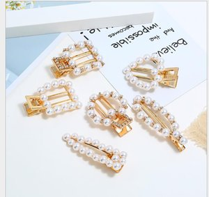 Hairpin Handmade Pearl Liu Haijia East Gate Net Red ins One-word Clamp Small Fresh Side Clamp