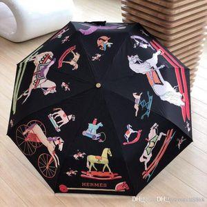 Moda Mujer 4 Fold Paraguas Automático Camellia Flower Parasol Sombrilla Rain UV Sun Umbrella para hombres mujeres Blooming camellia 6 DZX