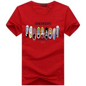 Designer Tshirt Mens T Shirts Top Quality New Fashion Tide Shoes Printed Men Tshirt Tee Shirts Tops Men T-shirt Multiple Color Selectable