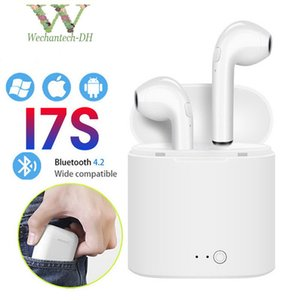 i7 i7S TWS Mini Bluetooth Наушники Беспроводные наушники с зарядным устройством Док-вкладыши Стереогарнитура для iPhone X 8 Plus Android сотовых телефонов