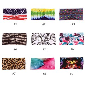 New Stretch Wide Flower Knot Headband Women Yoga Wash Face Sport Hair Bands Head Wrap Floral Hair Accessories