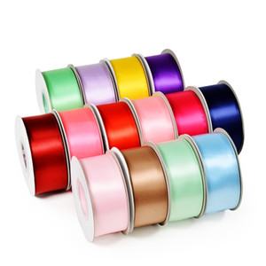 9mm Width 100Yards Single Faced Satin Ribbons for Wedding Christmas Party Decorations DIY Bow Craft Ribbons Card Gifts for Baby Girls