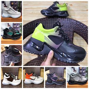Run Away Pulse Designer de Sapatilhas Das Mulheres Dos Homens Sapatos Casuais Retro Low Top Lace-Up Sapatilha Plana Sapatos de Lona De Couro De Luxo Com Caixa