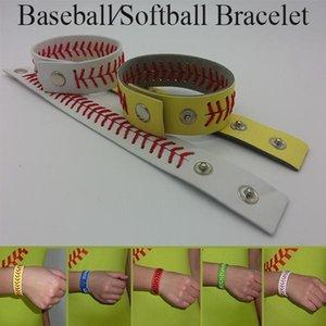 softbol beyzbol spor bracelet- gerçek beyzbol deri bağcık