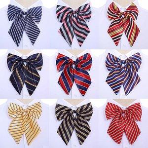 Bow Ties Stewardess Korean Cravat Butterfly High Quality Bowties Neck Wear Accessories Women Vintage Silk Striped