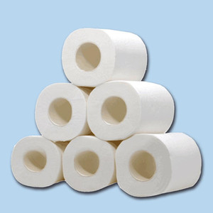 Branca de papel higiênico rolo de papel higiénico Tissue rolo 10 Pack 4 Ply toalhas de papel Tissue para Home Acessórios de cozinha 10 peças