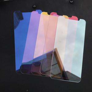 Miroir en verre trempé pour iPhone xr xs cas max pour l'iPhone 11 pro max Front Full Cover Effet Miroir écran coloré Film de protection