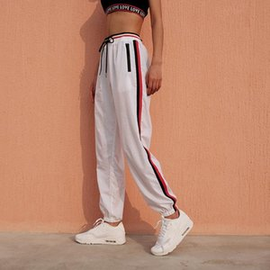 Womens Luxury Jogger Pants New Branded Drawstring Sports Pants High Fashion Side Stripe Designer Joggers F1