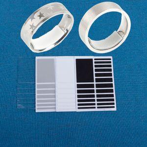 El nuevo diseño de 4 colores de bricolaje Transparente Tamaño anillo de base Ajustador Guardia tensor de herramientas de joyería Equipamientos
