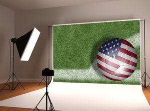 Sonho 7x5ft / 220x150cm americano Fotografia do Dia da Independência backdrop bandeira dos EUA do campo de futebol Foto for Children Tiro do estúdio Prop