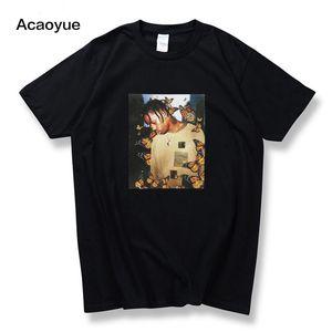 2018 ترافيس سكوت الفراشة T قميص البوم تأثير موسيقى الراب الغلاف الرجال والنساء Astroworld الوجه العلوي المادي تي شيرت S-2XL Y200104