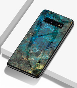 Marble Tempered glass For iphone 6 6s 7 8 plus X Xs MAX XR For Samsung Galaxy S10 S9 S8 plus Note8 9 Phone Case