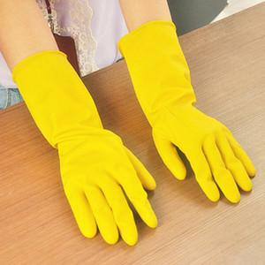 Temizleme Eldiven Bulaşık Yıkama Eldiven Kauçuk Ev işi Eldivenler Lateks eldiven Uzun Mutfak bulaşık yıkıyorlar agrafları