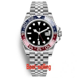Mens Watch lusso superiore Basilea Rosso Blu Pepsi vigilanza meccanica automatica luminosa Affari 30m impermeabile