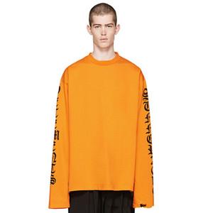 Hombres Mujeres Streetwear Camiseta Teenage Tide Letter Printing Camiseta de manga larga Color brillante Cuello redondo Oversize Fashion Tshirt Hoodie