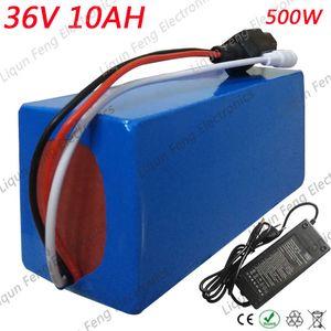 Batteria elettrica da 36 V 10AH per bicicletta profonda da 500 W 36 Volt con bici 18650 da incasso con cella 18650 incorporata con caricabatterie da 15A BMS + 2A