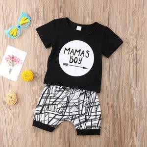 Yenidoğan Bebek Bebek MAMAS Boy Bebek tişört Tops + Pantolon Kıyafet Giyim Setleri