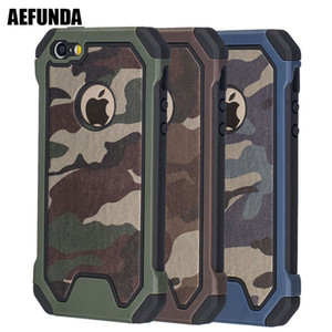 Army Military Camouflage Armor Shockproof Phone Case For iPhone 5 S 5S SE 6 6S 7 8 Plus X XS Max XR Coque Dual Layer TPU Cover