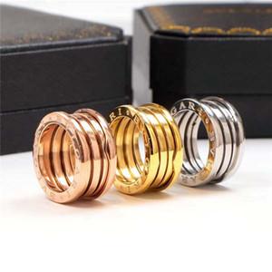 Популярная 316L Титановая стальная пружинная пружина для мужчин и женщин 18K color brand jewelry, оптовые любители ювелирных изделий, без оригинальной коробки
