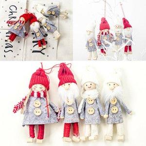 2019 Рождественский Подарок Ангел Плюшевая Кукла Рождественское Украшение Кулон Творческий Рождественская Елка Украшения Рождественские Украшения Для Дома