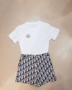 2020 nuova vita alta logo delle donne lettera jacquard una linea di pantaloncini estate di modo più il formato S M L