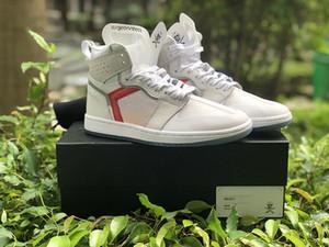 2019 The Shoe Surgeon P.J.Tucker Elemento 87 x 1 Mid Men calçados esportivos 1s Branco Vermelho Mens Designer Trainers