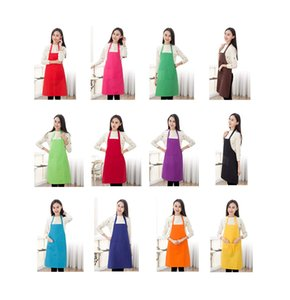 Total 9style Color Bib Apron Adult with 2 Front Pocket (Mixed Colour)