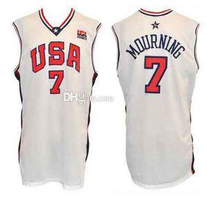 2000 олимпийская сборная США Алонсо траур #7 ретро баскетбол Джерси мужские сшитые на заказ любой номер имя трикотажные изделия