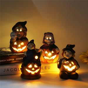 크리 에이 티브 할로윈 장식 호박 마녀 3D LED 조명 램프 테이블 파티 장식