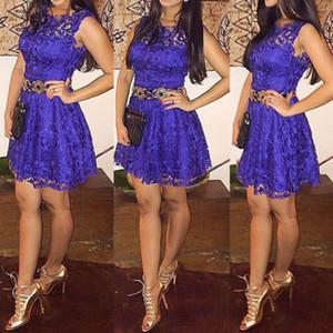 US стоковые кружева короткие мини-платья Vestidos Sexy женские летние платья женские ожоги повседневный коктейль без рукавов