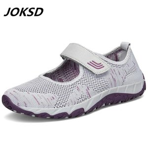 Walking Shoes JOKSD traspirante Donne Sneakers sani Outdoor Mesh antiscivolo sport scarpe da corsa Madre regalo Comfort Light Flats