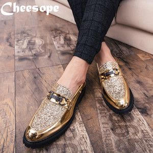 3 colors Men Thick Bottom Dress Shoes  Italian Style Fashion Men Formal Shoes Trend Bring Business Leather