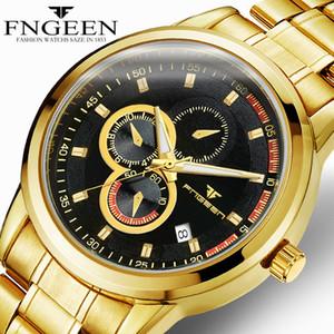 Men's Hollow Mechanical Watch Business Waterproof Calendar Gold Watch Waterproof Pointer Couple Watches ZF9772