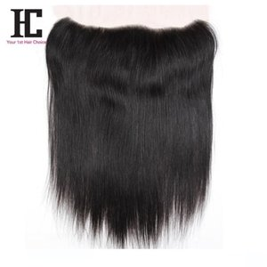 A 7a Peruvian Virgin Hair Straight Lace Frontals Closure 1 Bundle Soft Peruvian Straight Virgin Hair 13 &Quot ;X4 &Quot ;Lace Frontal C