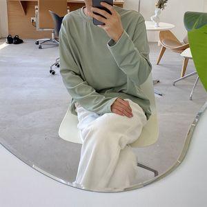 Spring Cotton T-shirt Men's Fashion Solid Color O-neck Long-sleeved T Shirt Men Streetwear Wild Loose Korean Tshirt Mens Tops