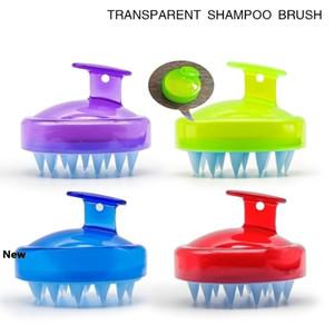 Lavagem 4styles Silicone Shampoo Escova Shampoo Scalp Massage escova de cabelo pente Corpo Bath Spa Massagem de Emagrecimento limpo Brushes Scrubbers FFA2847-
