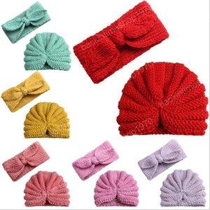 Beanie Baby oído de conejo venda de las muchachas de las lanas hicieron punto los sombreros Hairbands cráneo invierno casquillo casquillos del ganchillo de los niños sombrero al aire libre Accesorios Sombrero